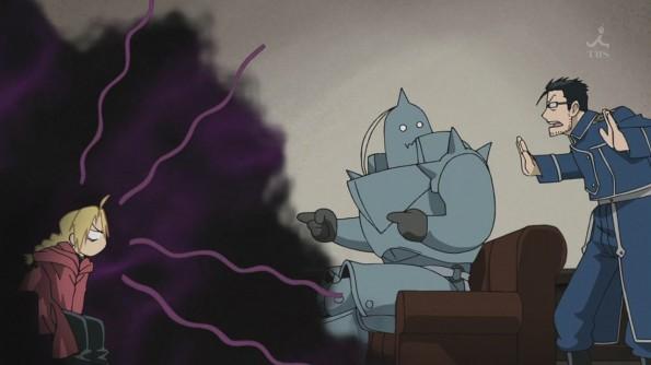 "Szene aus dem Anime ""Fullmetal Alchemist: Brotherhood"""