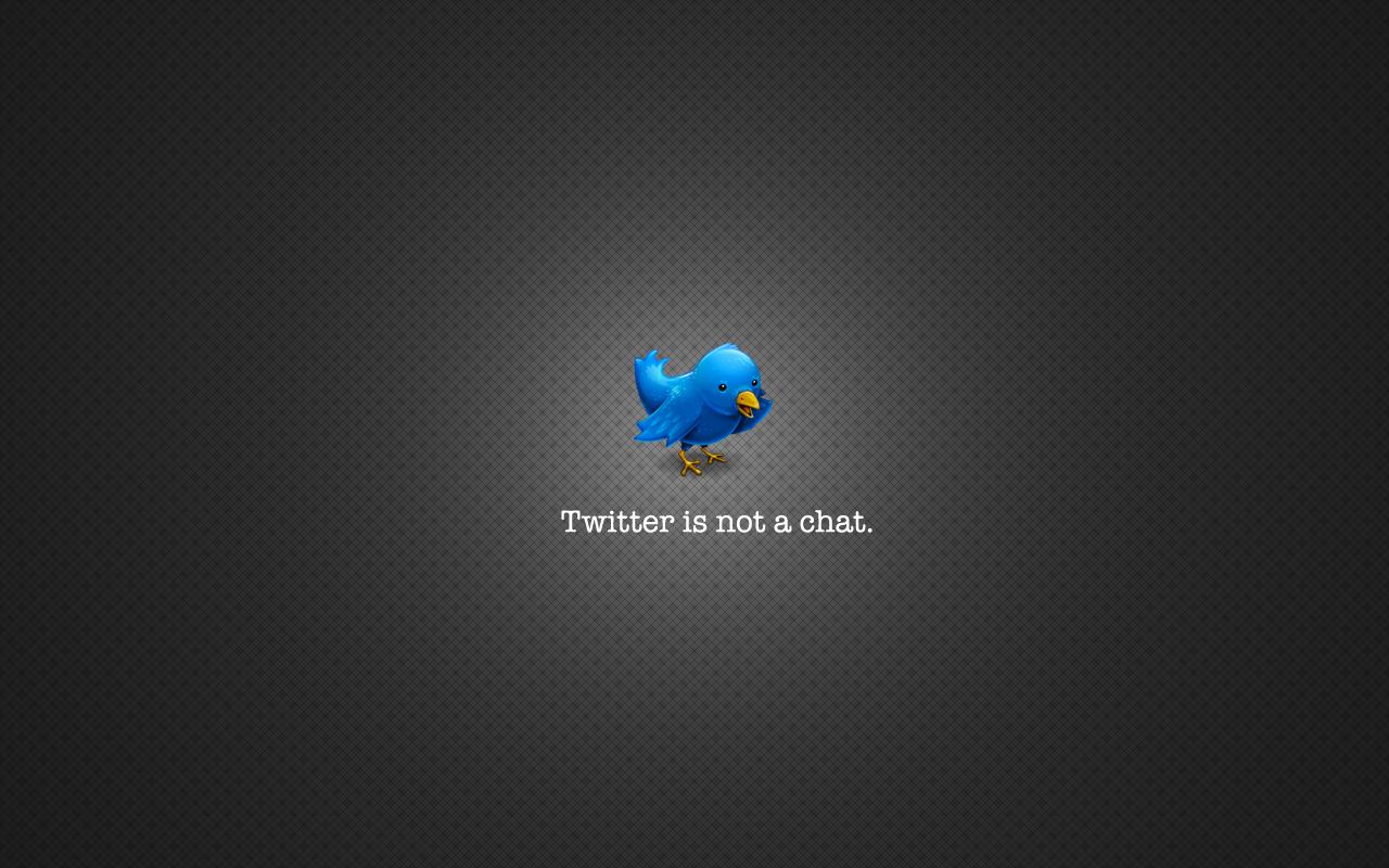 Wallpaper, dass das Maskottchen von Twitter, einen Vogel, vor einem grauen Hintergrund zeigt.