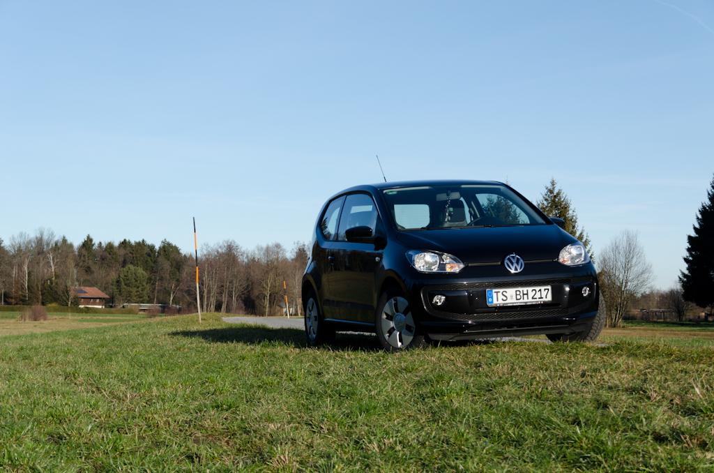 Frontansicht meines schwarzen VW up!