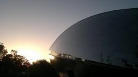 Das Universum Bremen im Sonnenlicht
