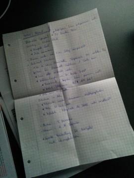 Foto der Notizen, die ich mir während dem Telefonat mit der Dame von Cellex zur bevorstehenden Stammzellenspende gemacht habe.