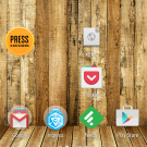 Screenshot des Homescreens von Android 5.0 (Lollipop)