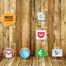 Screenshot des Homescreens von Android 5.0 (Lollipop)