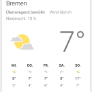 Screenshot von Google Now von Android 5.0 (Lollipop)